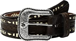 Embossed Laced Edges Belt