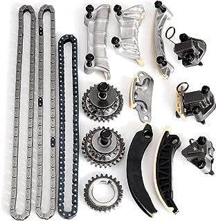 OCPTY Timing Chain Kit Tensioner Guide Rail Crank Sprocket fits for Buick Cadillac CTS SRX STS Saab Suzuki 2.8L 3.6L 04-06 DOHC TS11003
