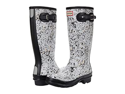 Hunter Kids Original Particle Print Wellington Boots (Little Kid/Big Kid) (Spurrey) Kid