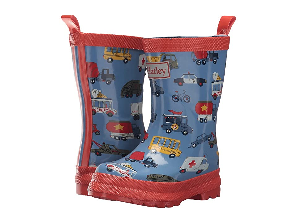 Hatley Kids Limited Edition Printed Rain Boots (Toddler/Little Kid) (Rush Hour) Boys Shoes