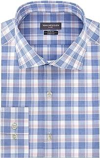 Men's Dress Shirt Flex Collar Slim Fit Check