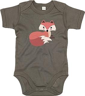 Kleckerliese Baby Body Sprüche Jungen Mädchen Kurzarm mit Motiv Tiere Fuchs