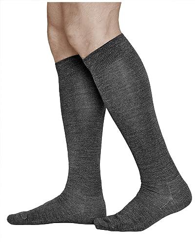 VITSOCKS Men's MERINO Wool (80%) Long Knee High Winter Socks, Warm Breathable