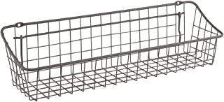 Spectrum Diversified Medium Pegboard & Wall Mount, Wire Basket for Slatwall & Pegboard Home & Garage Storage, Versatile Wall Organizer for Tools & More, Industrial Gray