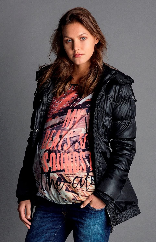 Love2Wait Damen Umstandsmode Jacken Mantel DOWN Coat Parker Long Jacket