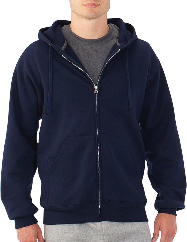 FRUIT OF THE LOOM Mens Full Zip Fleece Sweatshirt