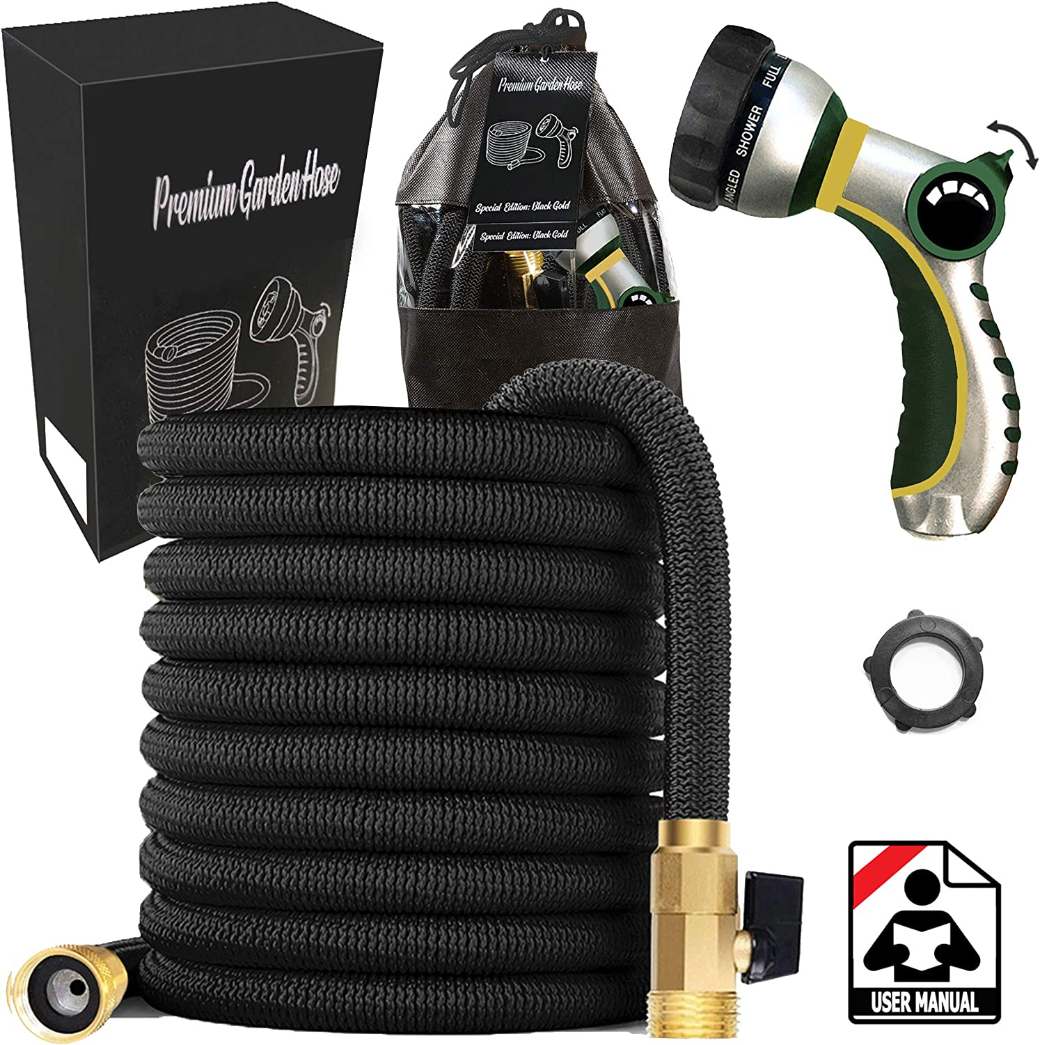 Water Max 59% OFF Our shop OFFers the best service Hose Heavy Duty Expandable – Black Triple Layer 25ft