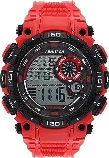 Armitron Sport Men's Quartz Sport Watch with Plastic Strap, Red, 22 (Model: 40/8397RED)