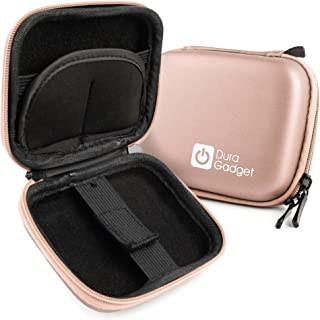 DURAGADGET Rose Gold Hard EVA Shell Case with Carabiner Clip & Twin Zips - Suitable for Polar RC3 GPS Heart Rate Monitor