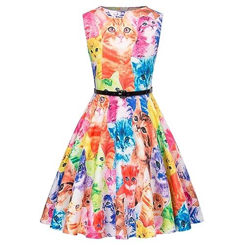 Kate Kasin Little Girls Cute Sleeveless Belted Tea Party Evening Dress 10-11 Years K884-1
