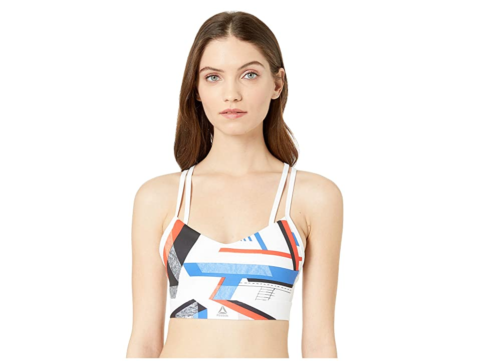 Reebok One Series Hero Strappy Bra (White) Women