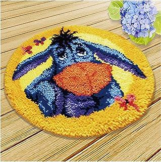 Kits De Crochet pour Adultes pour Les Adultes Débutants Tapis avec Crochet Aiguille Artisanat Coussin À La Main Shaggy Bri...