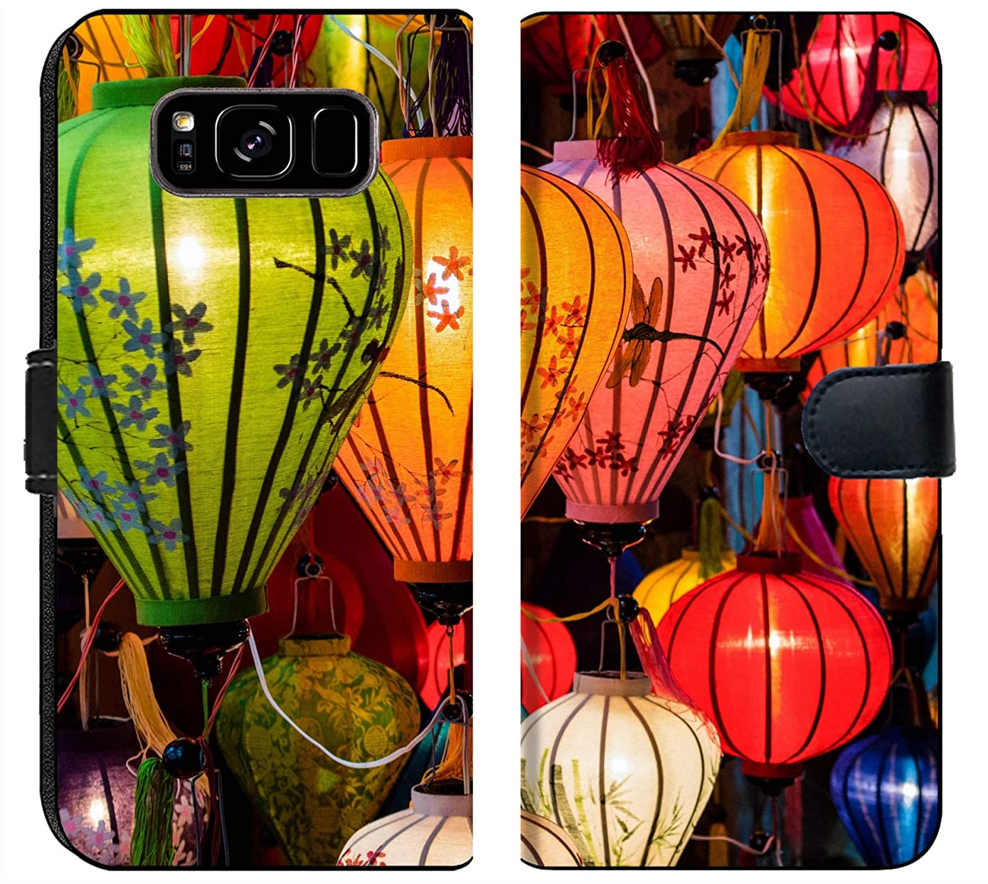 Samsung Galaxy S8 Plus Flip Fabric Wallet Case Image ID: 31089698 Traditional Lamps in Old Town Hoi an Central Vietnam
