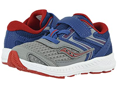 Saucony Kids S-Cohesion 13 Jr (Toddler) (Blue/Grey/Red Leather/Mesh) Boys Shoes