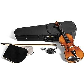 GEWApure Violin Set EW Ebano 1/2 Montado con Barbada, Cordal con microafinador, Arco, Resina, Estuche con Bandolera: Amazon.es: Instrumentos musicales