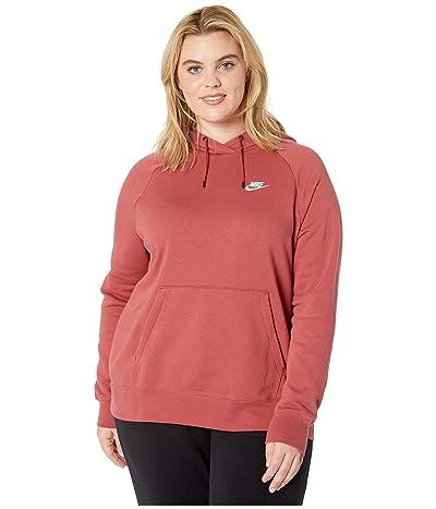 Nike Plus Size NSW Essential Hoodie Pullover Fleece (Cedar/White) Women