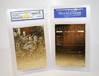 Star Wars BOUNTY HUNTERS 23KT Gold Card Sculptured #/10,000 - Graded GEM MINT 10