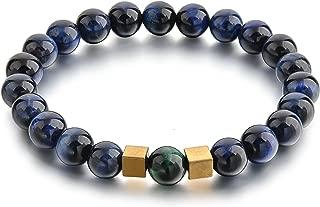 Beaded Bracelets for Men Women - Chakra Protection & Healing - Clear Quartz, Lapis Lazuli, Tiger Eye, Black Onyx, and Buddha Head