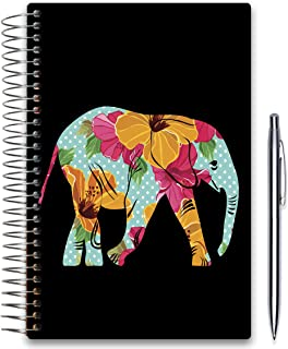 Tools4Wisdom 2020 Planner 5x8 - November 2019-2020 - Daily Weekly Monthly Hardcover Planner - Dated Oct Nov December 2019 Plus 2020 Calendar Year - Floral Elephant Hardcover