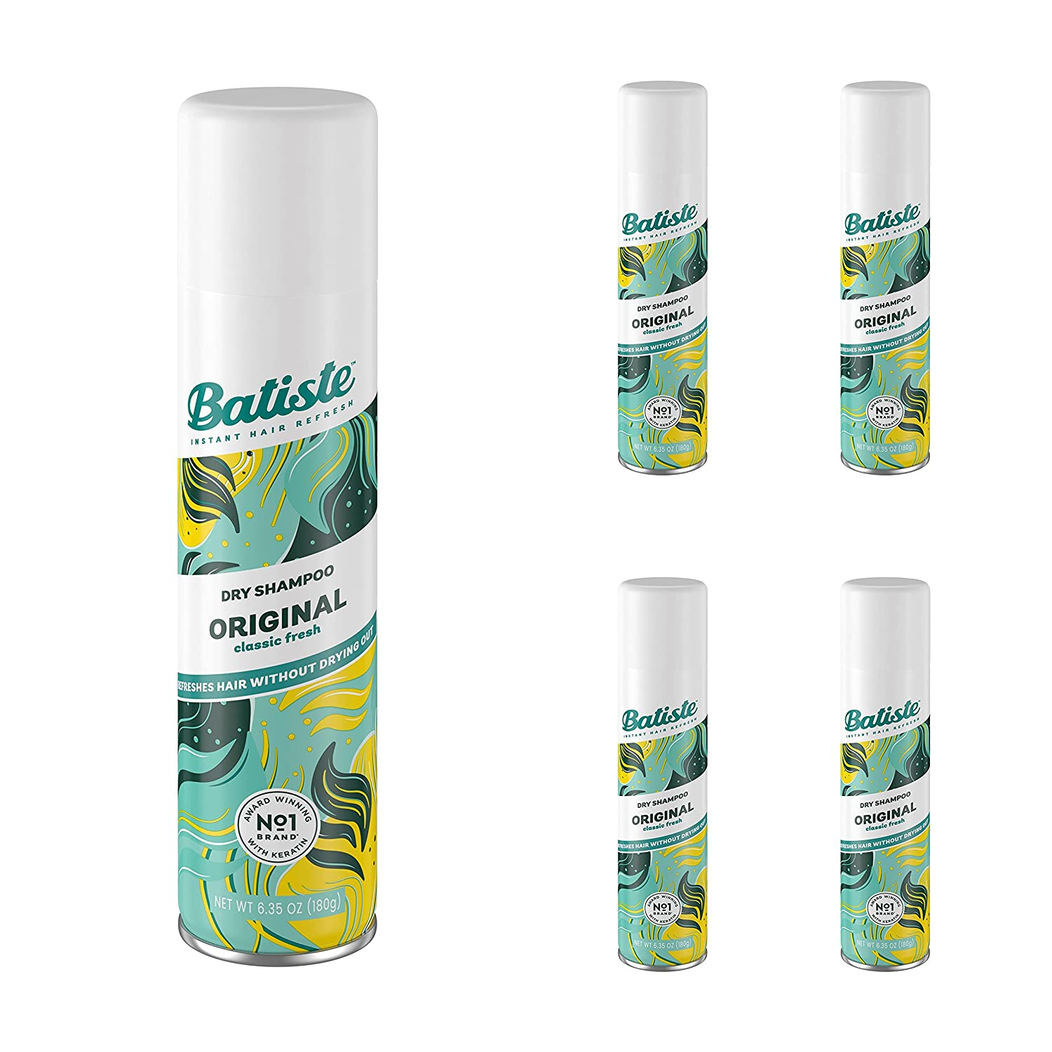 Batiste dry shampoo original fragrance We OFFer at cheap prices Count 5 O Max 50% OFF 6.73