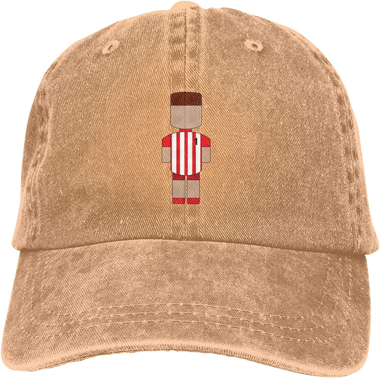 WAYMAY Football Player Unisex Adjustable Cowboy Hat Adult Cotton Baseball Cap