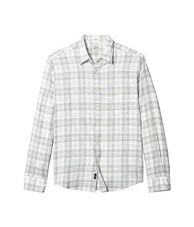Faherty Slim Fit Everyday Shirt (Grey Cream Plaid) Men