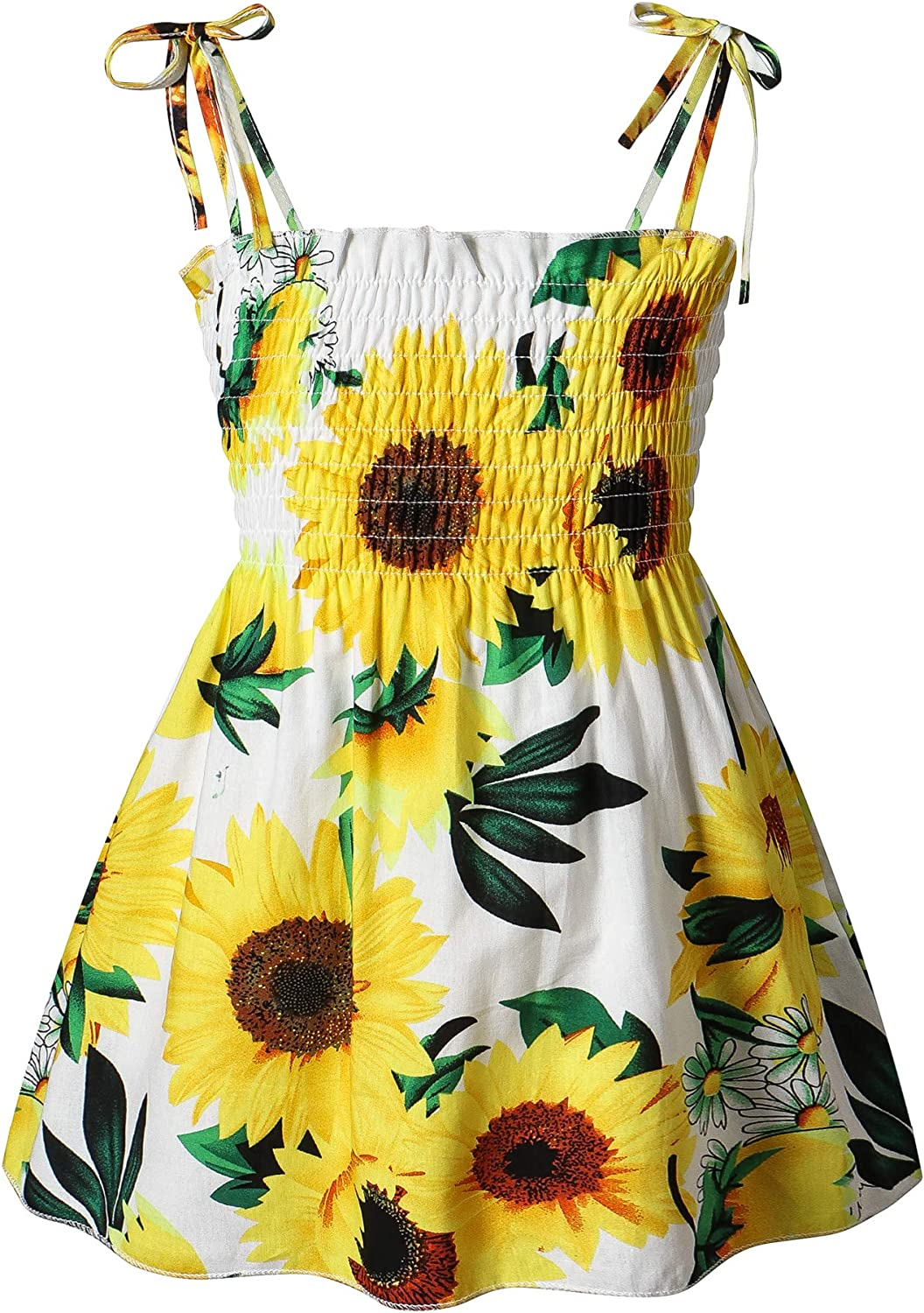 New York Mall Toddler Baby Fixed price for sale Girl Floral Dresses Strap Elastic T Sleeveless Kids