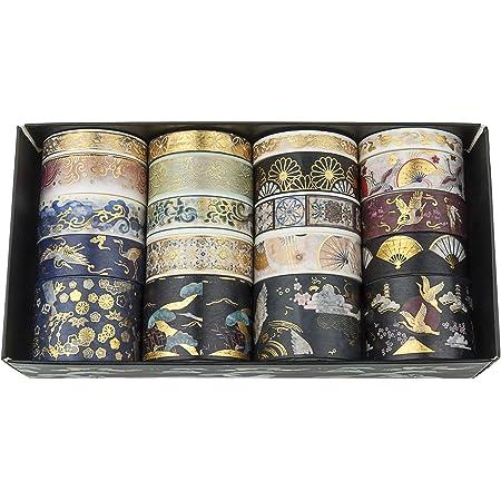 Diealles Shine 20 Rolls Bronzage Washi Tape, Ruban Adhésif Décoratif Ruban de masquage pour Bricolage, Scrapbooking, Emballage Cadeau, Embellissez Bullet, Style 1