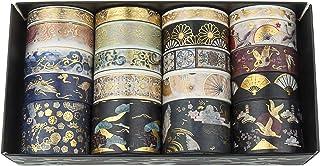 Diealles Shine 20 Rollos Bronceado Washi Tapes Set,Cinta Adhesiva Decorativa para DIY manualidades, Revistas, planificador...