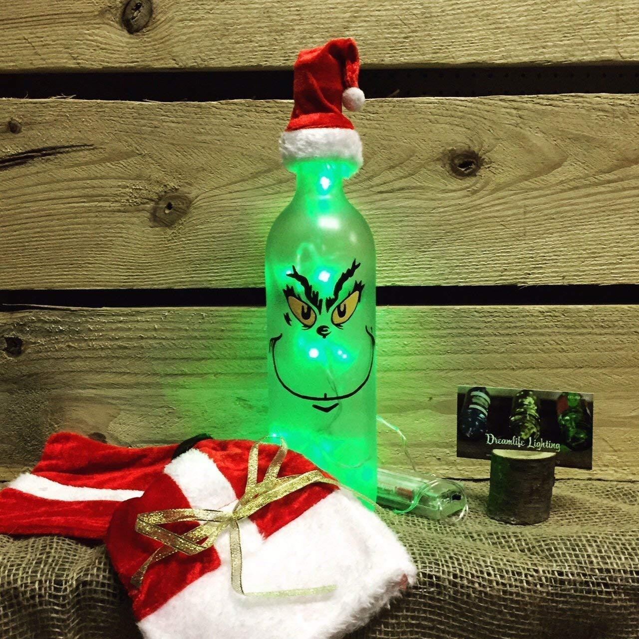 Grinch Holiday Super sale Max 84% OFF Bottle Light