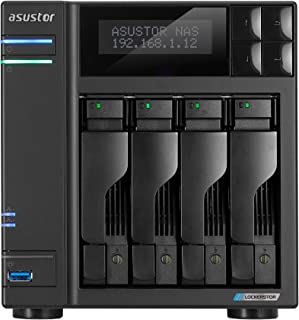 Asustor Lockerstor 4 | AS6604T | Network Attached Storage | 2.0GHz Quad-Core, Two 2.5GbE Port, Three 3.2USB Port, 4GB RAM ...