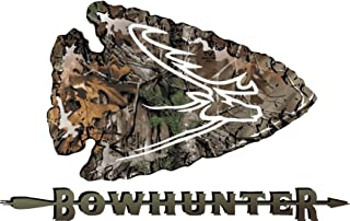 Truck Bowhunter Camouflage Set of 2 opposing Arrowhead Deer Antler Emblem Decals for Dodge Ram Ford Chevy