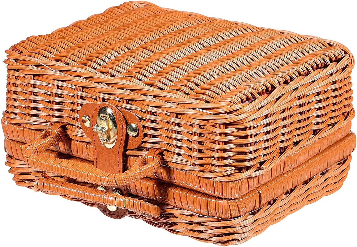 IMIKEYA Small Luxury goods Wicker Picnic Basket Hamper for free Woven Trave