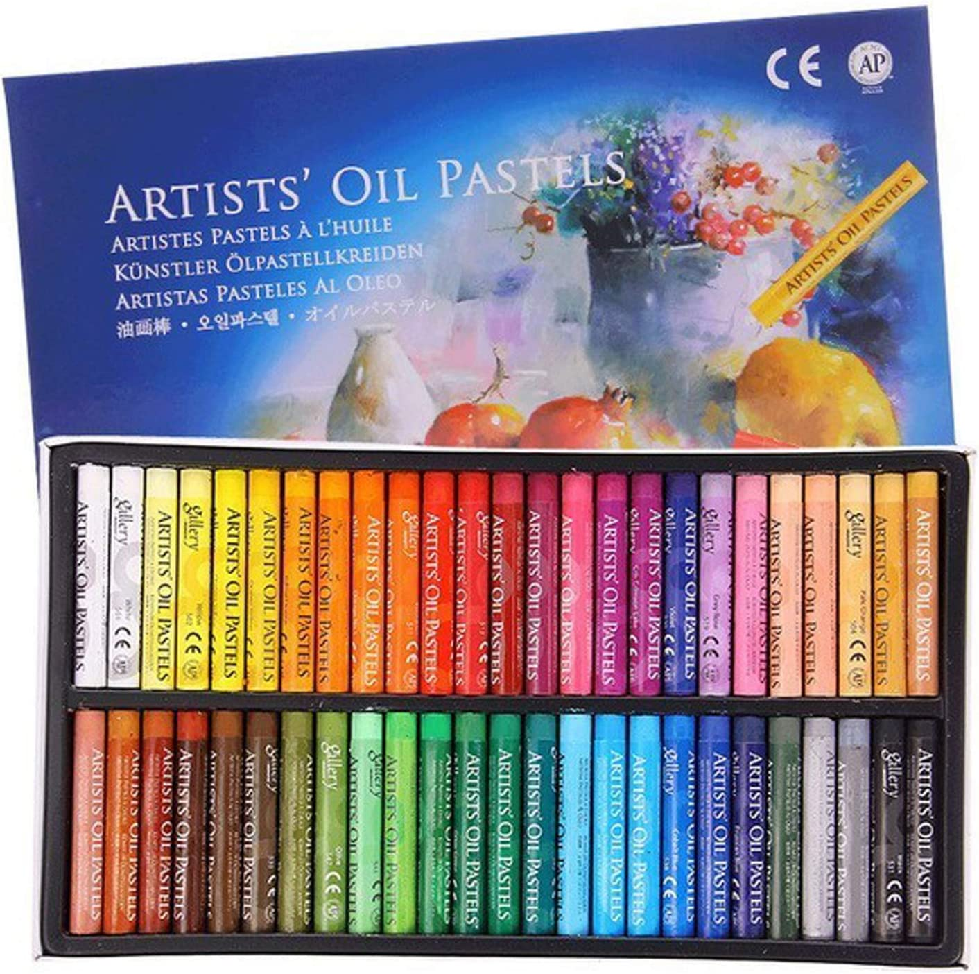Soft Oil Pastels Set Paint Crayons Sticks Bundle Silky Artist Pastel Set Professional Drawing Pastel for Kid Adults Colouring DIY Crafting Artwork Art Stationery School Supplies 12 Colors