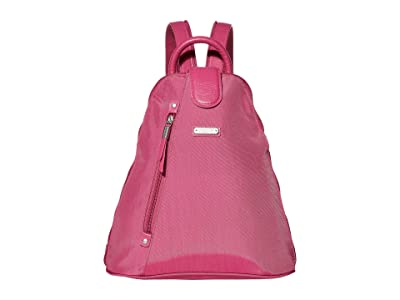 Baggallini New Classic Metro Backpack with RFID Phone Wristlet (Deep Fuchsia) Backpack Bags