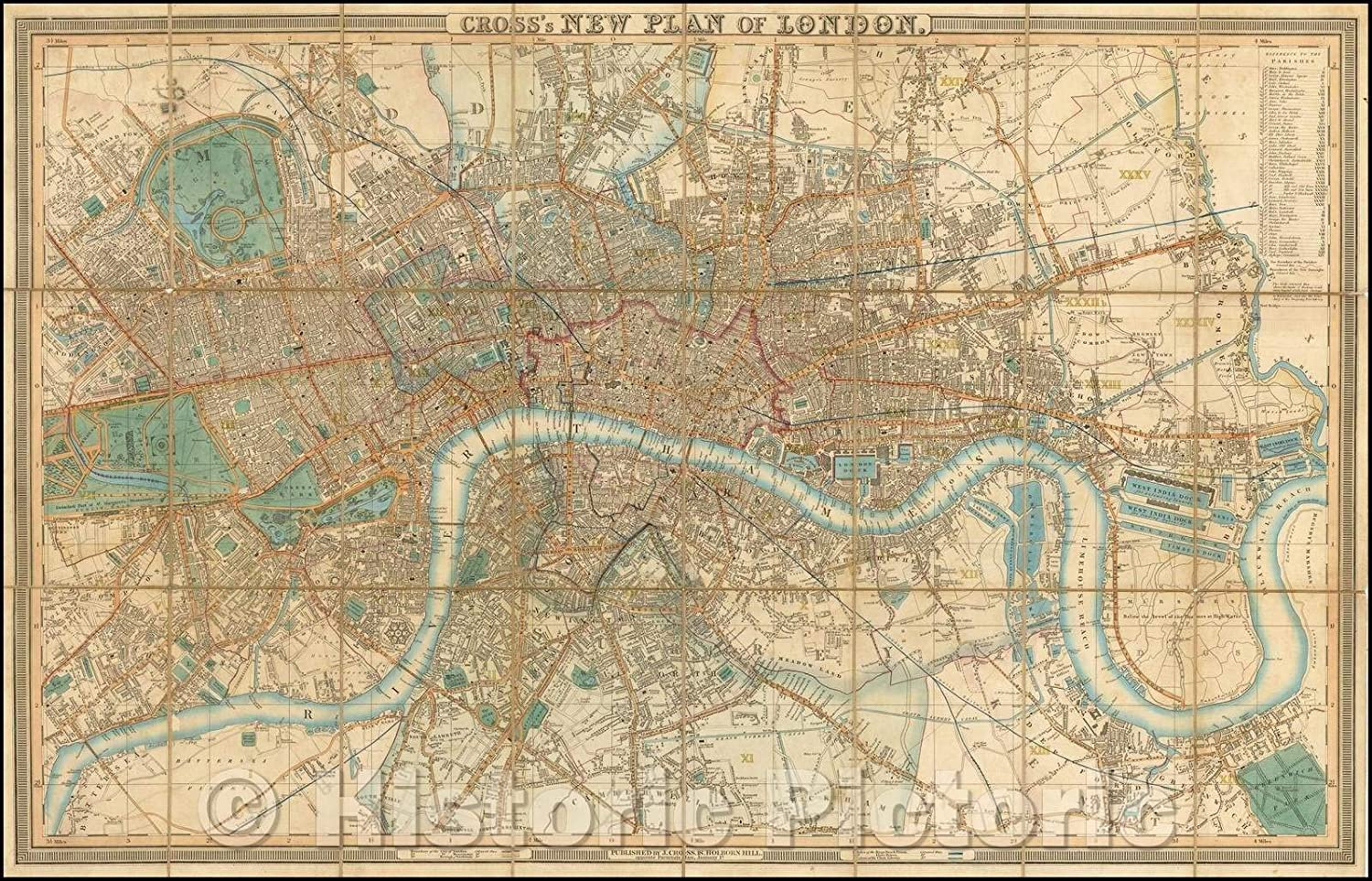 Philip/'s New Plan of London 1873 reproduction old map