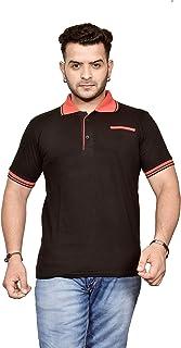 Ytrick Men's Black Polo T-Shirt…