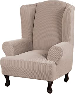 Turquoize Stretch Wingback Chair Slipcover Slipcovers for Wingback Chairs Sofa Slipcover 1-Piece Wing Chair Cover Sofa Cov...