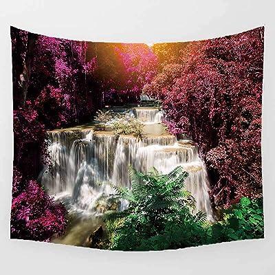 Treer Pared Tapiz Decorativo Natural Impresi/ón Flujo de Agua Multiusos Decoraci/ón para el Hogar Dormitorios Manta Playa 92x64cm,Natural
