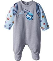 Fendi Kids - Footie w/ Fur Monster Sleeves & Graphic (Infant)