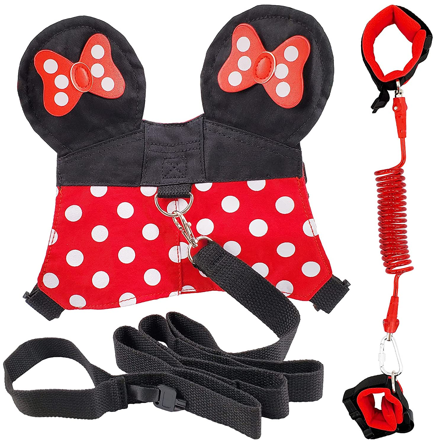 Child Backpack Leash for Toddlers & Kids Walking - 3in1 Wrist Link for Baby Girls