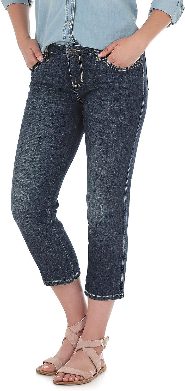 Wrangler Women's Aura Instantly Slimmimg Mid Rise Stretch Capri Jean