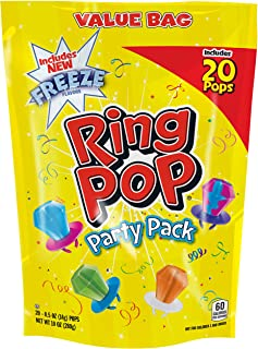 Ring POP Individually Wrapped Variety Halloween Party Pack - Candy Lollipop Suckers W/ Assorted Flavors, 20 Count (Pack of 1)