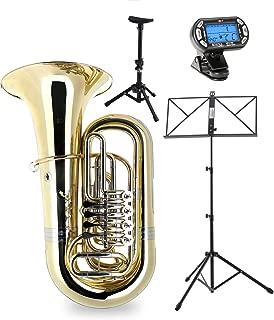Classic Cantabile Brass T-190 4/4 Tuba, Bb set incl. boquilla, softcase, atril, metrónomo y soporte
