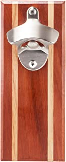 Bruntmor, CAPMAGS Strong Magnetic w/Zinc Alloy Beer Opener & Cap Catcher - Epitong Wood Hand Painted