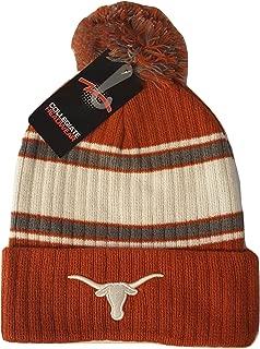 Texas Longhorns Knit Cuff Beanie with Pom