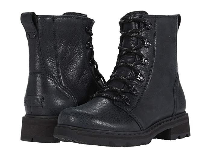 Vintage Boots- Winter Rain and Snow Boots History SOREL Lennoxtm Lace Black Womens Boots $138.75 AT vintagedancer.com