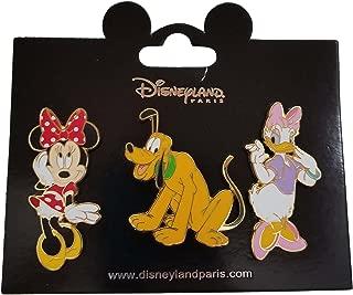 Disneyland Paris Pin - Minnie, Pluto and Daisy - 3 Pin Set
