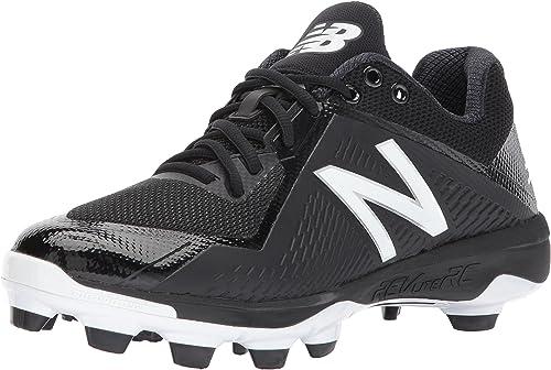 New Balance Men& 039;s PL4040v4 Molded Baseball schuhe, schwarz Weiß, 16 2E US