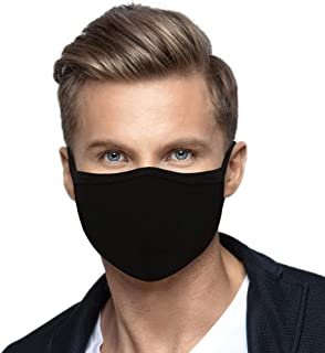 2 Pack Made in USA Men's Protective Reusable Face Mask - Soft Fabric Cloth Covering Washable Breathable Protection Cover (...